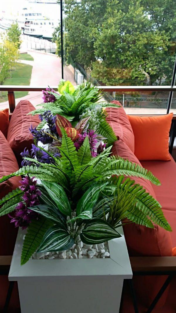 istanbul yapay saksı çiçek